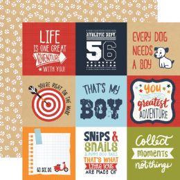 Papier imprimé All Boy JOURNALING CARDS 10 x 10 CM par Echo Park. Scrapbooking et loisirs créatifs. Livraison rapide et cadea...