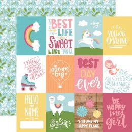 Papier imprimé All Girl JOURNALING CARDS par Echo Park. Scrapbooking et loisirs créatifs. Livraison rapide et cadeau dans cha...