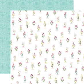 Papier imprimé Flora n°3 BRIGHT STEMS par Carta Bella. Scrapbooking et loisirs créatifs. Livraison rapide et cadeau dans chaq...
