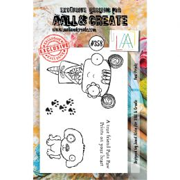 Tampon clear AALL and Create PAW PRINTS 358