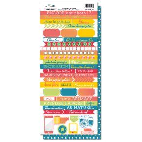 Planche d'étiquettes SEANCE PHOTO par DIY and Cie. Scrapbooking et loisirs créatifs. Livraison rapide et cadeau dans chaque c...