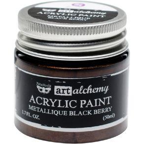 Peinture acrylique Finnabair métallique BLACK BERRY par Prima Marketing. Scrapbooking et loisirs créatifs. Livraison rapide e...