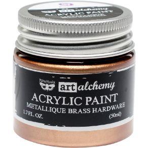 Peinture acrylique Finnabair métallique BRASS HARDWARE par Prima Marketing. Scrapbooking et loisirs créatifs. Livraison rapid...
