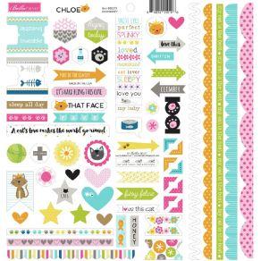 Planche de stickers Bella Besties CHLOE DOOHICKEY par Doodlebug design. Scrapbooking et loisirs créatifs. Livraison rapide et...