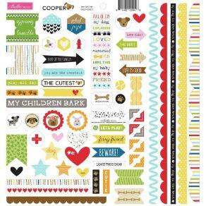 Planche de stickers Bella Besties COOPER DOOHICKEY par Doodlebug design. Scrapbooking et loisirs créatifs. Livraison rapide e...
