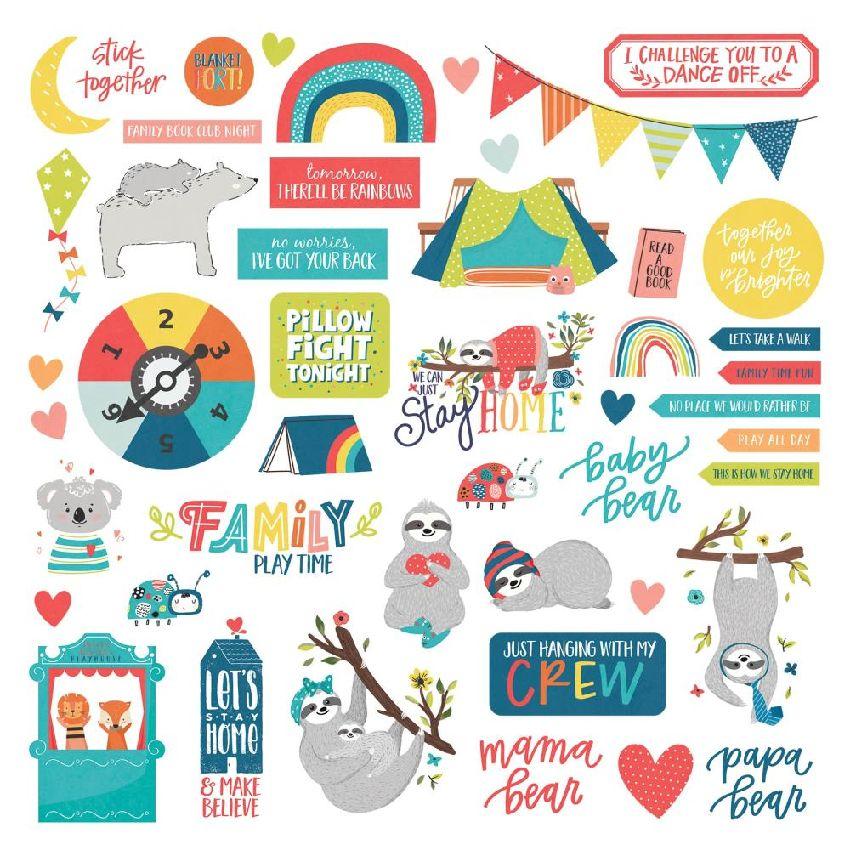Stickers We can just stay home ELEMENTS par Photo Play. Scrapbooking et loisirs créatifs. Livraison rapide et cadeau dans cha...