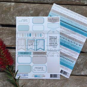 Planche d'étiquettes COULEUR OCEAN par Chou and Flowers. Scrapbooking et loisirs créatifs. Livraison rapide et cadeau dans ch...