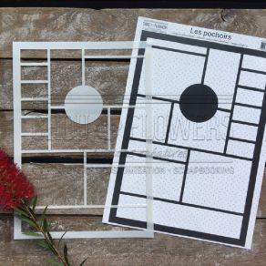 Pochoir MOODBOARD 1 par Chou and Flowers. Scrapbooking et loisirs créatifs. Livraison rapide et cadeau dans chaque commande.