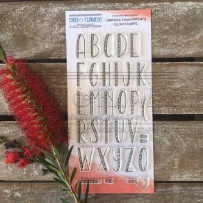 Tampon clear ALPHABET par Chou and Flowers. Scrapbooking et loisirs créatifs. Livraison rapide et cadeau dans chaque commande.
