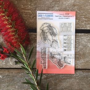 Tampon clear LES PETITES SIRENES par Chou and Flowers. Scrapbooking et loisirs créatifs. Livraison rapide et cadeau dans chaq...