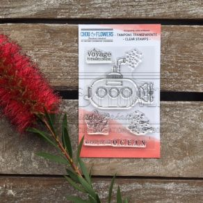 Tampon clear SOUS MARIN par Chou and Flowers. Scrapbooking et loisirs créatifs. Livraison rapide et cadeau dans chaque commande.