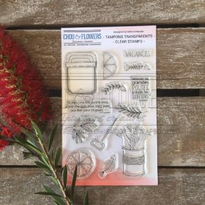 Tampons clear CITRONS ET SARDINES par Chou and Flowers. Scrapbooking et loisirs créatifs. Livraison rapide et cadeau dans cha...