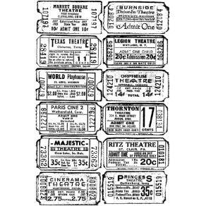 Tampon non monté Tim Holtz TICKET par Tim Holtz. Scrapbooking et loisirs créatifs. Livraison rapide et cadeau dans chaque com...