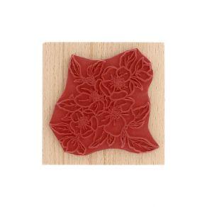 Tampon bois FLEURS DE POMMIER par Florilèges Design. Scrapbooking et loisirs créatifs. Livraison rapide et cadeau dans chaque...