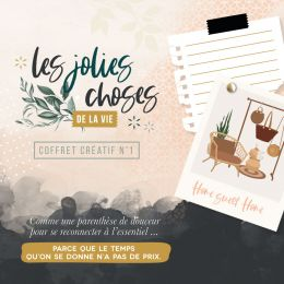 Coffret créatif LES JOLIES CHOSES DE LA VIE par Florilèges Design. Scrapbooking et loisirs créatifs. Livraison rapide et cade...