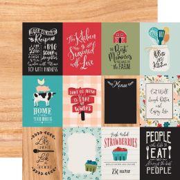 Papier imprimé Farmhouse Kitchen JOURNALING CARDS 10 X 10 CM par Echo Park. Scrapbooking et loisirs créatifs. Livraison rapid...