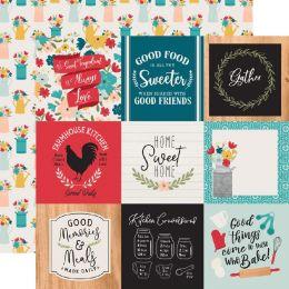 Papier imprimé Farmhouse Kitchen JOURNALING CARDS 7,5 X 10 CM par Echo Park. Scrapbooking et loisirs créatifs. Livraison rapi...