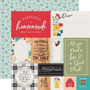 Papier imprimé Farmhouse Kitchen MULTI JOURNALING CARDS par Echo Park. Scrapbooking et loisirs créatifs. Livraison rapide et ...