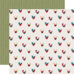 Papier imprimé Farmhouse Kitchen ROAMING ROOSTERS