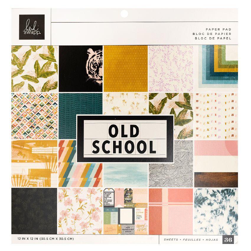 Bloc 30.5 x 30.5 OLD SCHOOL par Heidi Swapp. Scrapbooking et loisirs créatifs. Livraison rapide et cadeau dans chaque commande.