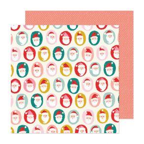 Papier imprimé Hey Santa HO HO HO par Crate Paper. Scrapbooking et loisirs créatifs. Livraison rapide et cadeau dans chaque c...