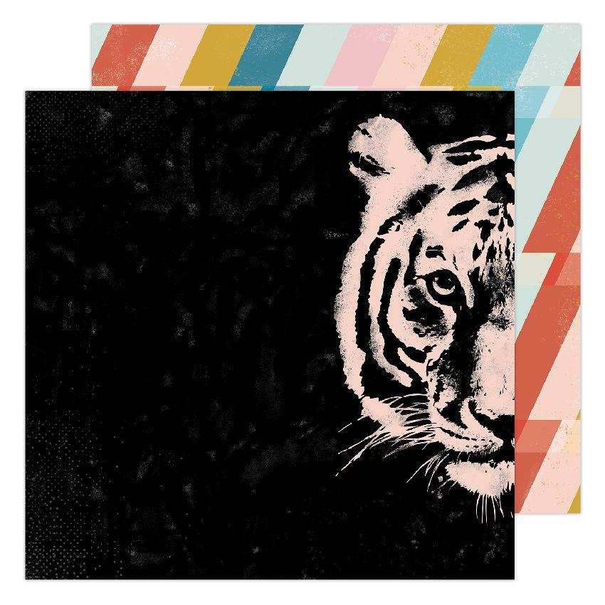 Papier imprimé Old School HEY TIGER