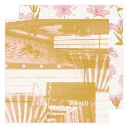 Papier imprimé Old School MATINEE par Heidi Swapp. Scrapbooking et loisirs créatifs. Livraison rapide et cadeau dans chaque c...
