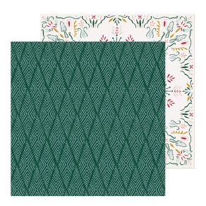 Papier imprimé Snowflake ICICLES par Crate Paper. Scrapbooking et loisirs créatifs. Livraison rapide et cadeau dans chaque co...