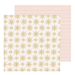 Papier imprimé Snowflake SNOWCAPPED par Crate Paper. Scrapbooking et loisirs créatifs. Livraison rapide et cadeau dans chaque...