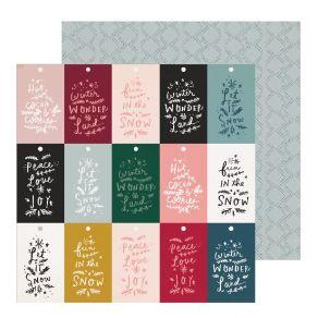 Papier imprimé Snowflake WONDERLAND par Crate Paper. Scrapbooking et loisirs créatifs. Livraison rapide et cadeau dans chaque...