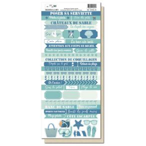 Planche d'étiquettes VACANCES A LA MER