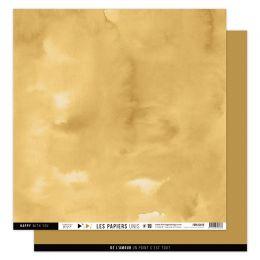Papier Uni N°19 JAUNE SAFRAN par Florilèges Design. Scrapbooking et loisirs créatifs. Livraison rapide et cadeau dans chaque ...