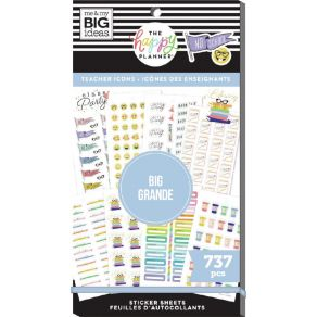 Carnet de stickers MAMBI Happy Planner NO SCHOOL