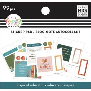 Carnet de stickers MAMBI Happy Planner INSPIRED EDUCATOR