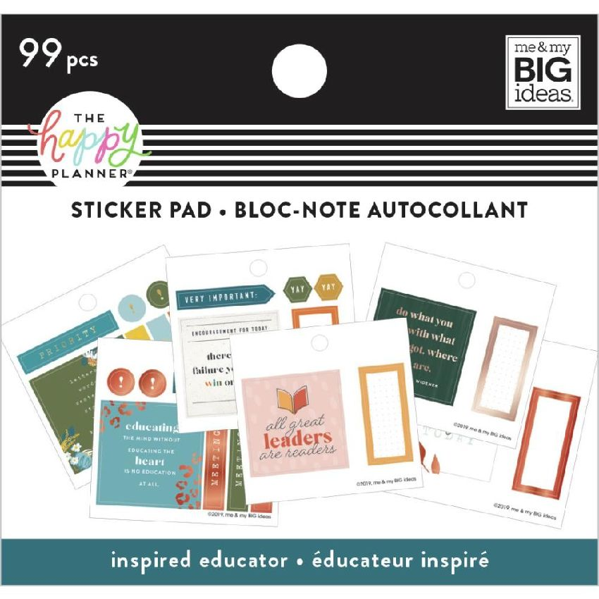 Carnet de stickers MAMBI Happy Planner INSPIRED EDUCATOR