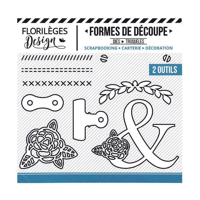 Outil de découpe PINCES ET VIS par Florilèges Design. Scrapbooking et loisirs créatifs. Livraison rapide et cadeau dans chaqu...