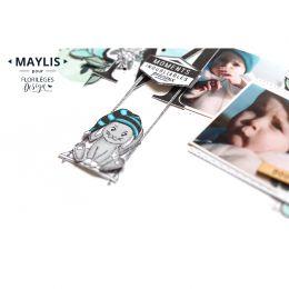Tampon clear LETTRE M par Florilèges Design. Scrapbooking et loisirs créatifs. Livraison rapide et cadeau dans chaque commande.