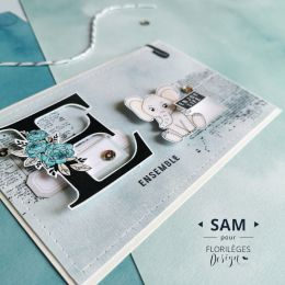 Tampon clear LETTRE E
