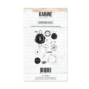 Tampon clear Intemporelle AUTHENTIQUE SCEAU par Les Ateliers de Karine. Scrapbooking et loisirs créatifs. Livraison rapide et...