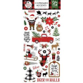 Chipboard A Lumberjack Christmas ACCENTS
