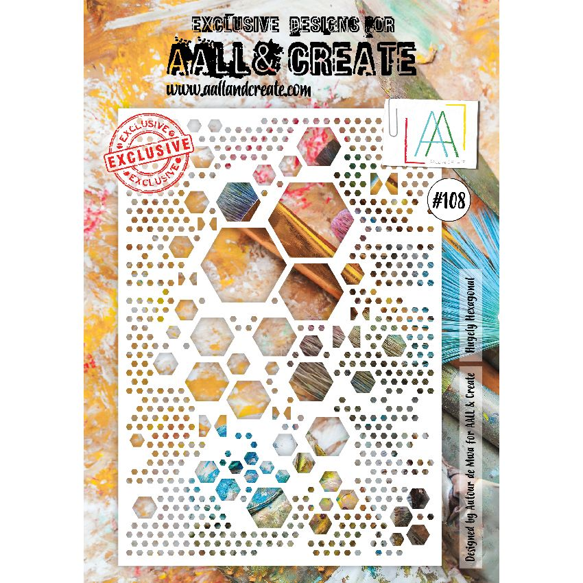 Tampons clear AALL and Create HUGELY HEXAGONALS 108