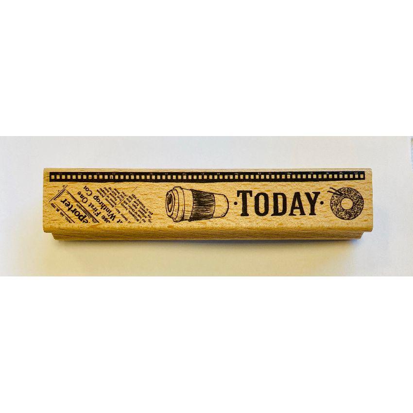 Tampon bois TODAY par In Spirit. Scrapbooking et loisirs créatifs. Livraison rapide et cadeau dans chaque commande.