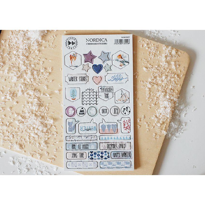 Stickers cartonnés NORDICA par Studio Forty. Scrapbooking et loisirs créatifs. Livraison rapide et cadeau dans chaque commande.