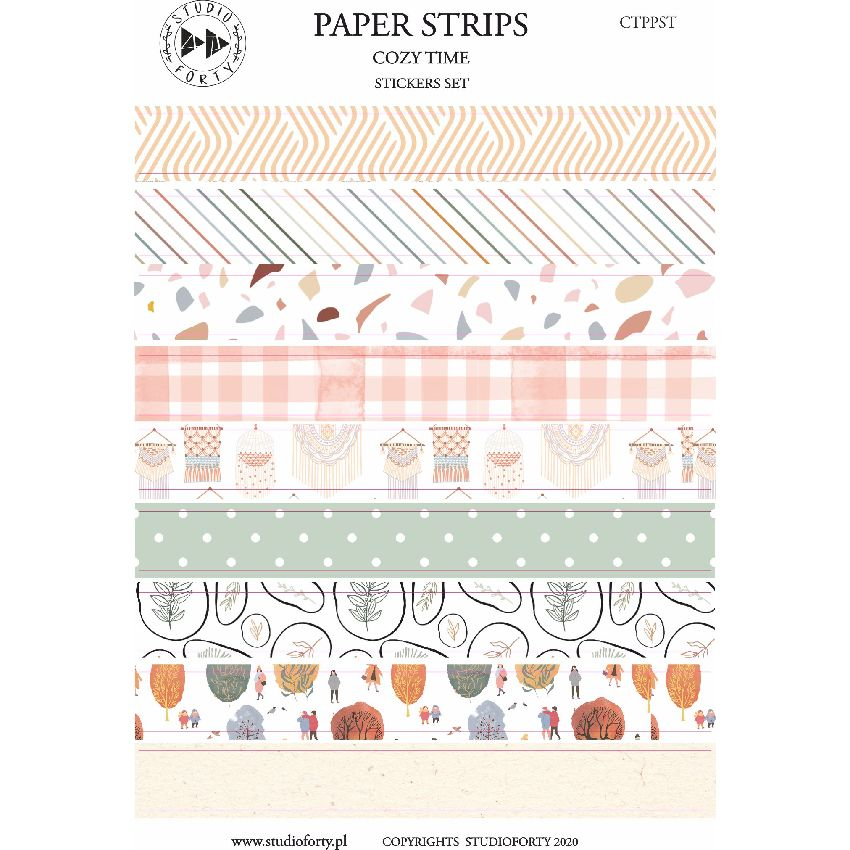 Stickers Cozy time PAPER STRIPS