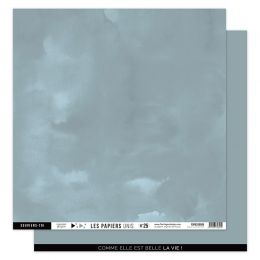 Papier Uni N°25 BLEU GRIS par Florilèges Design. Scrapbooking et loisirs créatifs. Livraison rapide et cadeau dans chaque com...