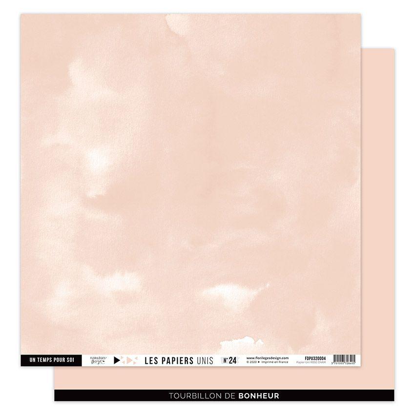 Papier Uni N°24 ROSE CHAIR par Florilèges Design. Scrapbooking et loisirs créatifs. Livraison rapide et cadeau dans chaque co...