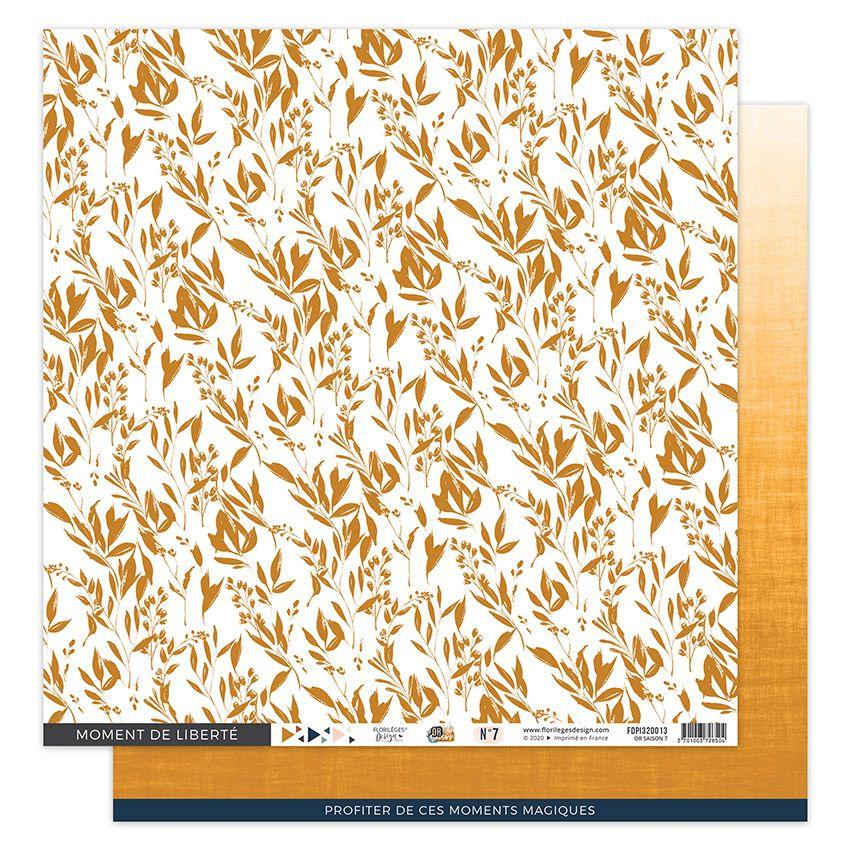 Papier imprimé OR SAISON 7 par Florilèges Design. Scrapbooking et loisirs créatifs. Livraison rapide et cadeau dans chaque co...