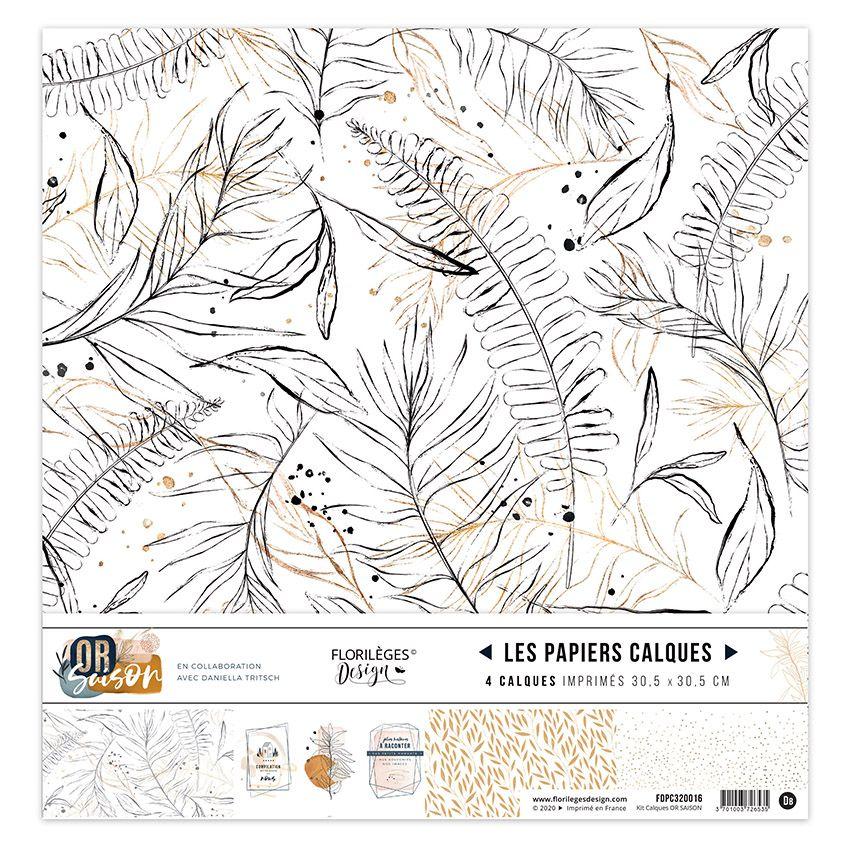 Kit calque OR SAISON par Florilèges Design. Scrapbooking et loisirs créatifs. Livraison rapide et cadeau dans chaque commande.