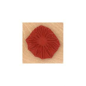 Tampon bois FLEUR SOLEIL par Florilèges Design. Scrapbooking et loisirs créatifs. Livraison rapide et cadeau dans chaque comm...