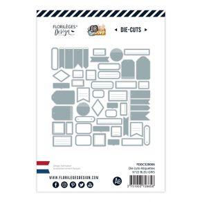 Etiquettes N°22 BLEU GRIS par Florilèges Design. Scrapbooking et loisirs créatifs. Livraison rapide et cadeau dans chaque com...